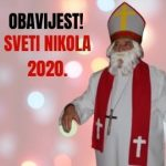 OBAVIJEST - 32. SV. NIKOLA 2020.!